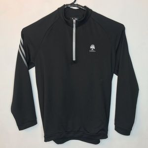 Adidas Golf Pullover Black ClimaLite 1/2 Zip Large